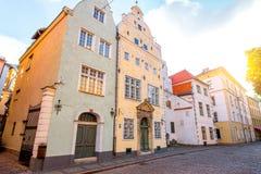σπίτια παλαιά Ρήγα Στοκ Εικόνες