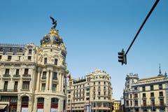 Σπίτια πολυτέλειας της Μαδρίτης, Ισπανία στοκ φωτογραφία με δικαίωμα ελεύθερης χρήσης