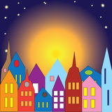 Σπίτια πολύχρωμα Στοκ φωτογραφία με δικαίωμα ελεύθερης χρήσης
