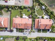 σπίτια προαστιακά Στοκ Εικόνες
