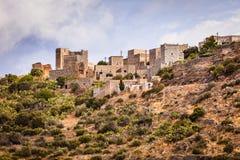 Σπίτια πύργων στη χερσόνησο Vathia Ελλάδα Mani στοκ εικόνα με δικαίωμα ελεύθερης χρήσης