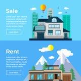 Σπίτια πώλησης και μισθώματος Στοκ εικόνες με δικαίωμα ελεύθερης χρήσης