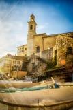 Σπίτια σε μια γειτονιά παραλίας στη Γένοβα, Ιταλία στοκ εικόνες με δικαίωμα ελεύθερης χρήσης