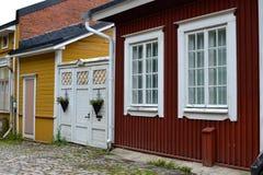 Σπίτια σε παλαιό Porvoo Στοκ φωτογραφίες με δικαίωμα ελεύθερης χρήσης