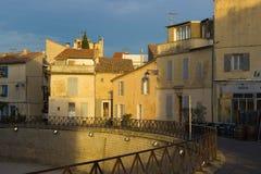Σπίτια σε Arles, Προβηγκία Στοκ εικόνα με δικαίωμα ελεύθερης χρήσης