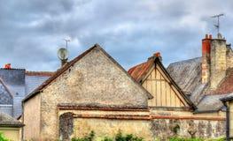 Σπίτια σε azay-LE-Rideau στην κοιλάδα της Loire, Γαλλία Στοκ Εικόνα