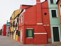 Σπίτια σε Burano Στοκ φωτογραφίες με δικαίωμα ελεύθερης χρήσης