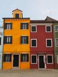 Σπίτια σε Burano στοκ εικόνες