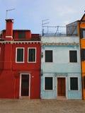 Σπίτια σε Burano Στοκ Εικόνα