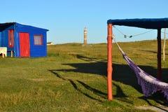 Σπίτια σε Cabo Polonio Στοκ φωτογραφία με δικαίωμα ελεύθερης χρήσης