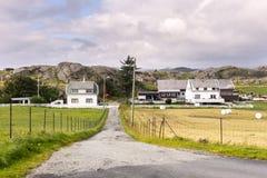 σπίτια σε Eirersund Fyr Στοκ Φωτογραφία
