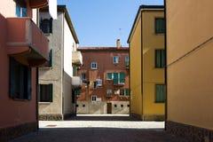Σπίτια σε Murano στοκ εικόνα