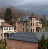 Σπίτια σε Staunton Βιρτζίνια Στοκ φωτογραφία με δικαίωμα ελεύθερης χρήσης