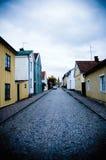 σπίτια Σκανδιναβός Στοκ εικόνες με δικαίωμα ελεύθερης χρήσης