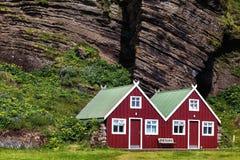 σπίτια Σκανδιναβός Στοκ Εικόνα