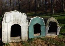 σπίτια σκυλιών Στοκ φωτογραφία με δικαίωμα ελεύθερης χρήσης