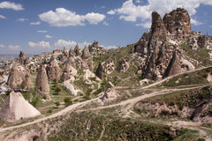 σπίτια σπηλιών cappadocia Στοκ εικόνα με δικαίωμα ελεύθερης χρήσης
