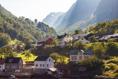 Σπίτια στα βουνά Στοκ εικόνα με δικαίωμα ελεύθερης χρήσης