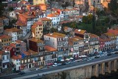 Σπίτια στην παλαιά πόλη Πόρτο, Πορτογαλία Ταξίδι Στοκ φωτογραφία με δικαίωμα ελεύθερης χρήσης