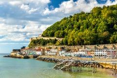 Σπίτια στην παραλία του San Sebastian - της Ισπανίας στοκ εικόνες με δικαίωμα ελεύθερης χρήσης