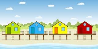Σπίτια στην παραλία Στοκ εικόνες με δικαίωμα ελεύθερης χρήσης