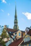 Σπίτια στην παλαιά Ρήγα Στοκ φωτογραφία με δικαίωμα ελεύθερης χρήσης