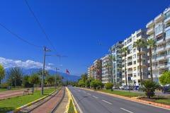 Σπίτια στην προκυμαία της Μεσογείου antalya Τουρκία Στοκ φωτογραφία με δικαίωμα ελεύθερης χρήσης