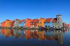Σπίτια στην προκυμαία Στοκ Εικόνα