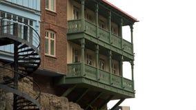Σπίτια στο βράχο στο Tbilisi απόθεμα βίντεο