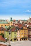 Σπίτια στο τετράγωνο κάστρων Στοκ εικόνα με δικαίωμα ελεύθερης χρήσης