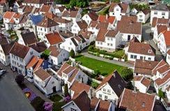 Σπίτια στο Stavanger, Νορβηγία Στοκ Εικόνα