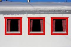 σπίτια τεμαχίων αλιείας Στοκ εικόνα με δικαίωμα ελεύθερης χρήσης