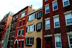 σπίτια της Βοστώνης στοκ φωτογραφίες