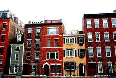 σπίτια της Βοστώνης στοκ εικόνες