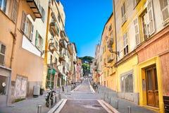 Σπίτια της Νίκαιας στην παλαιά κωμόπολη της πόλης Στοκ εικόνα με δικαίωμα ελεύθερης χρήσης
