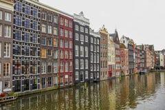 Σπίτια του Άμστερνταμ στοκ εικόνες με δικαίωμα ελεύθερης χρήσης