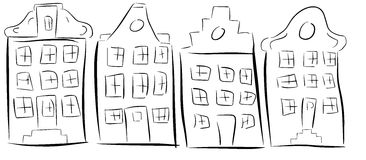 Σπίτια του Άμστερνταμ στοκ φωτογραφίες με δικαίωμα ελεύθερης χρήσης