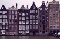 σπίτια του Άμστερνταμ Στοκ φωτογραφία με δικαίωμα ελεύθερης χρήσης