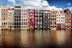 σπίτια του Άμστερνταμ στοκ εικόνα