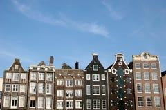 σπίτια του Άμστερνταμ Στοκ Εικόνες