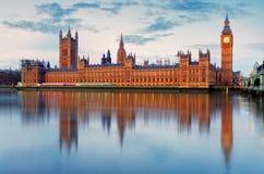 Σπίτια του Κοινοβουλίου - Big Ben, Αγγλία, UK στοκ φωτογραφίες