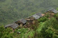 Σπίτια του Νεπάλ Στοκ φωτογραφία με δικαίωμα ελεύθερης χρήσης
