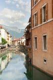 Σπίτια του Annecy στοκ φωτογραφίες