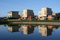 σπίτια τρία στοκ φωτογραφίες