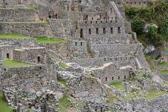 Σπίτια των εργοστασίων Machu Picchu Περού Στοκ φωτογραφία με δικαίωμα ελεύθερης χρήσης