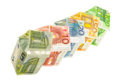 Σπίτια των ευρο- τραπεζογραμματίων Στοκ Εικόνα