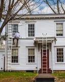 Σπίτια υπόλοιπου κόσμου ζωγραφικής στοκ φωτογραφία