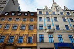 Σπίτια υπόλοιπου κόσμου στο τετράγωνο αγοράς σε Wroclaw, Πολωνία Στοκ Φωτογραφίες
