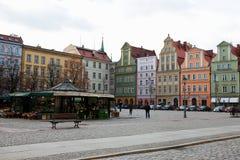 Σπίτια υπόλοιπου κόσμου στο τετράγωνο αγοράς σε Wroclaw, Πολωνία Στοκ φωτογραφία με δικαίωμα ελεύθερης χρήσης