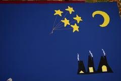 Σπίτια φεγγαριών αστεριών Στοκ φωτογραφία με δικαίωμα ελεύθερης χρήσης